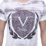 V 1969 Italia Mens T-shirt Short Sleeves Round Neck White LOGAN