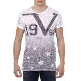 V 1969 Italia Mens T-shirt Short Sleeves Round Neck Multicolor DAVID