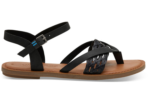 W's Lexie Leather Sandal w/ Synthetic Braid Strap