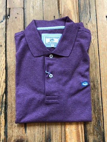 M S/S Heathered Skipjack Polo