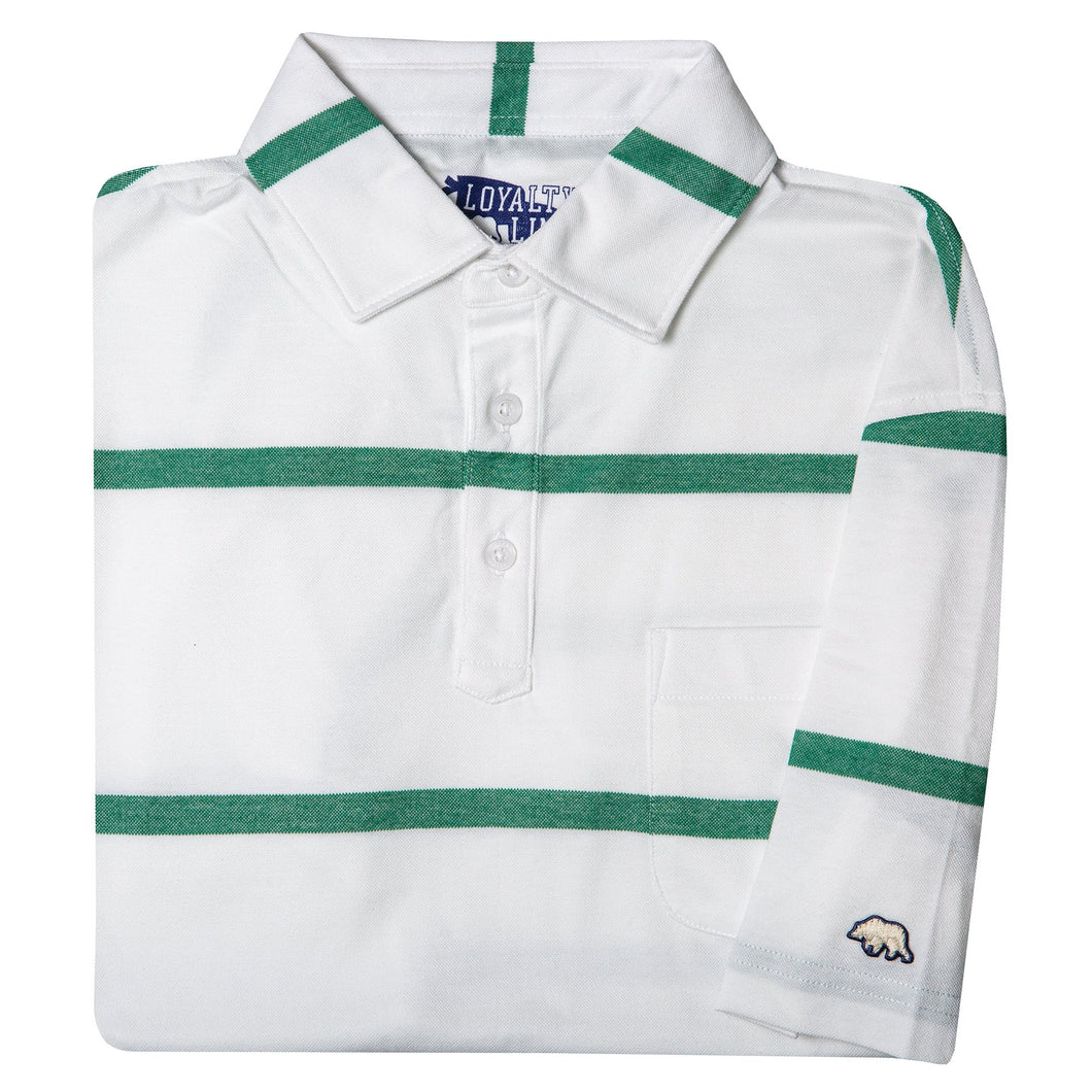 Loyalty Vintage Retro Stripe Polo