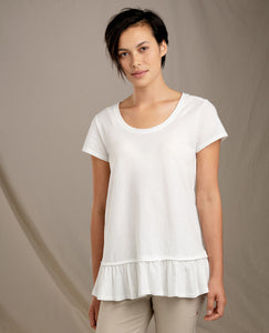 Tissue Peplum Top