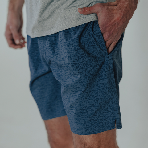 Men's Heathered Hybrid Shorts