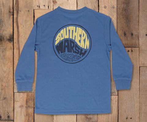Youth FieldTec™ Comfort Long Sleeve Tee - Retro Riptide