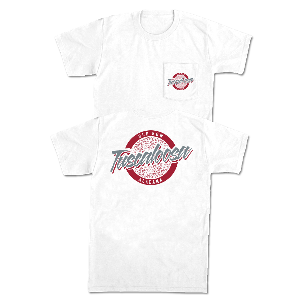 Old Row Tuscaloosa, Alabama Circle Logo Pocket Tee
