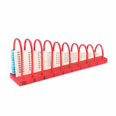 Wooden colored  calculation shelf-Red