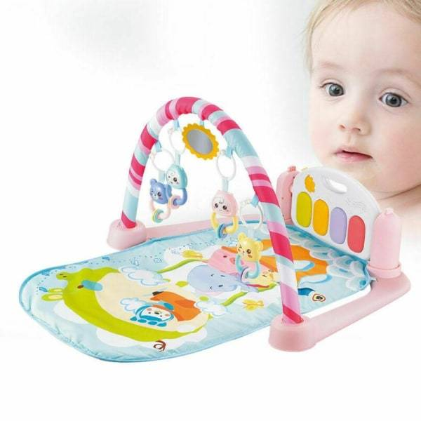 Multi-function baby's  5 in 1 piano gym mat