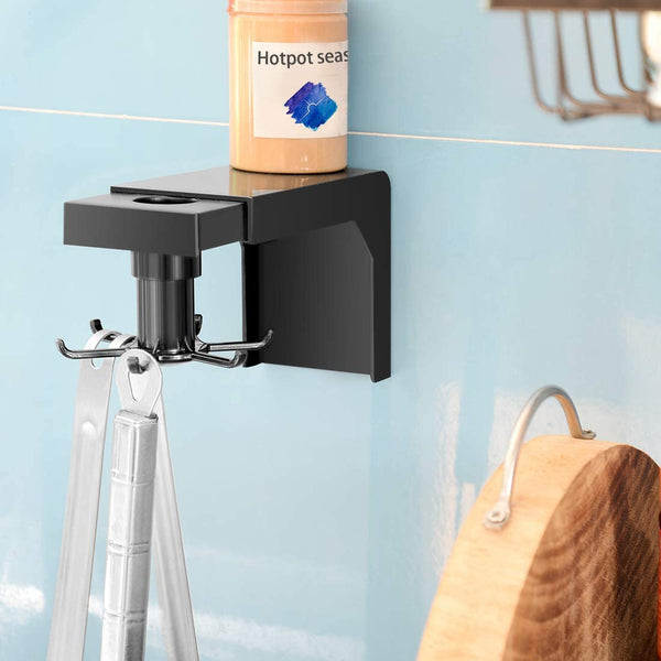 360° Rotating Wall Mounted 6 Hooks Collecting Hanger