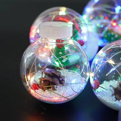 10 piece Christmas Ornaments ball copper wire lights