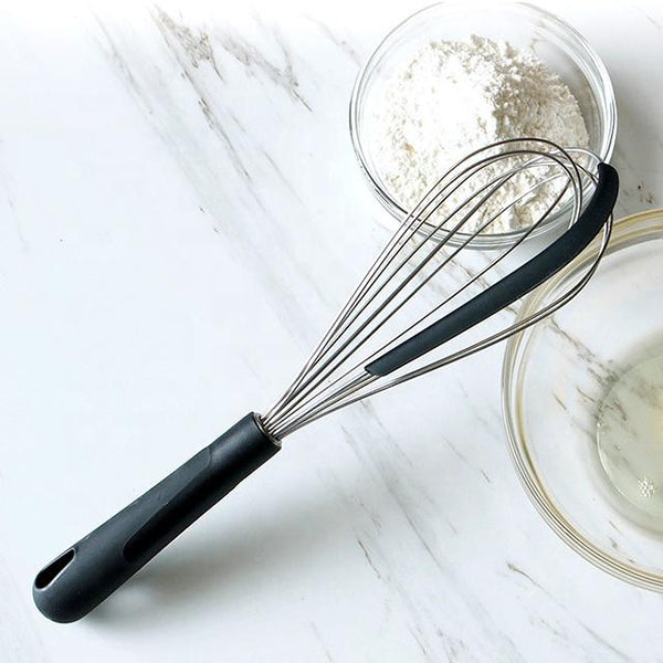 Stainless Steel Whisk Spatula with Silicone Scraper
