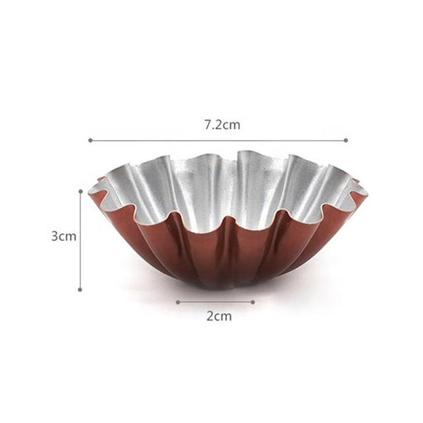 Non-Stick Flower Shaped Cupcake and Egg Tart Mold