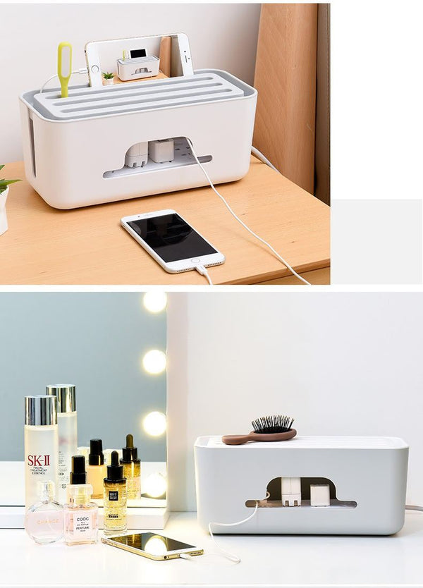 Multi-functional Cable & Plug Organizer Box