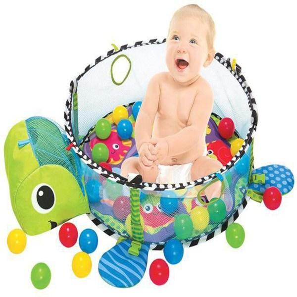 Foldable  baby gym rack & game pad-Green