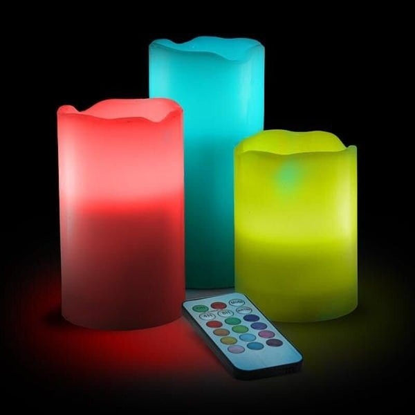 3 Pack Color Changing Candles
