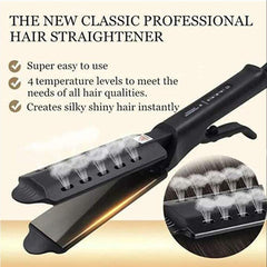 Steamy Four-gear temperature adjustable Ceramic Hair Straightener