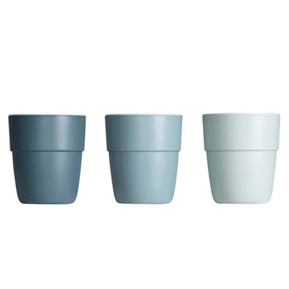 Set de 3 Mini vasos Yummy Azul