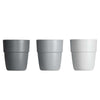 Set de 3 Mini vasos Yummy Gris