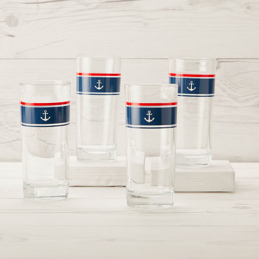 Let's Sail Away Glass Set