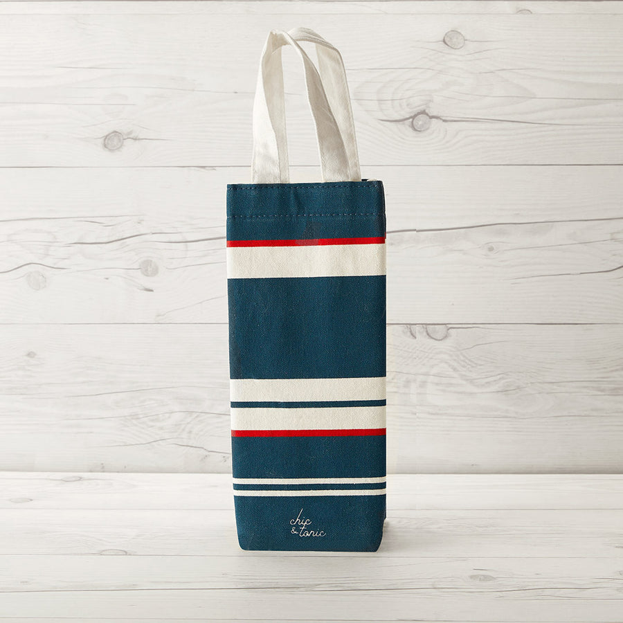 Printed Canvas Wine Bag
