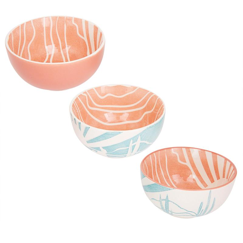 Sunrise Cactus Set of 4 Bowls