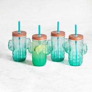 Sunrise Cactus Glasses Set of 4