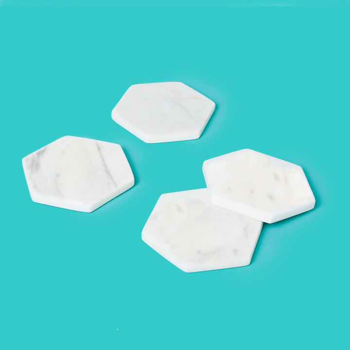 Marble Drink Coasters Set