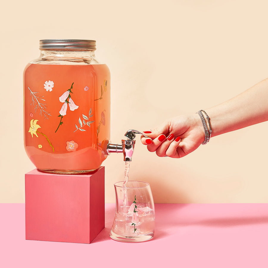 Floral Drink Dispenser