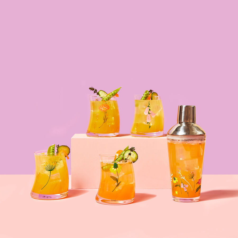 Floral Cocktail Shaker