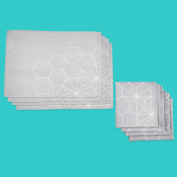 Hexagon Placemat & Napkin Set