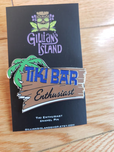 Tiki Bar Enthusiast limited edition enamel pin