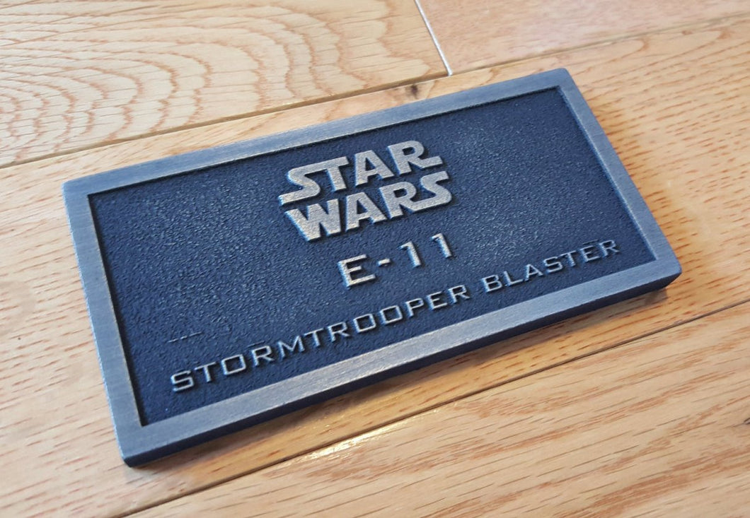 star wars E-11 Stormtrooper Blaster name plate