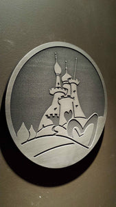 Alice in Wonderland themed wall plaque Queen of hearts restaurant inspired