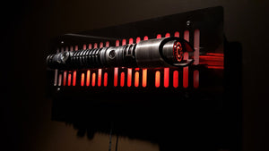 Star Wars Lightsaber wallmount Display stand with LED lights