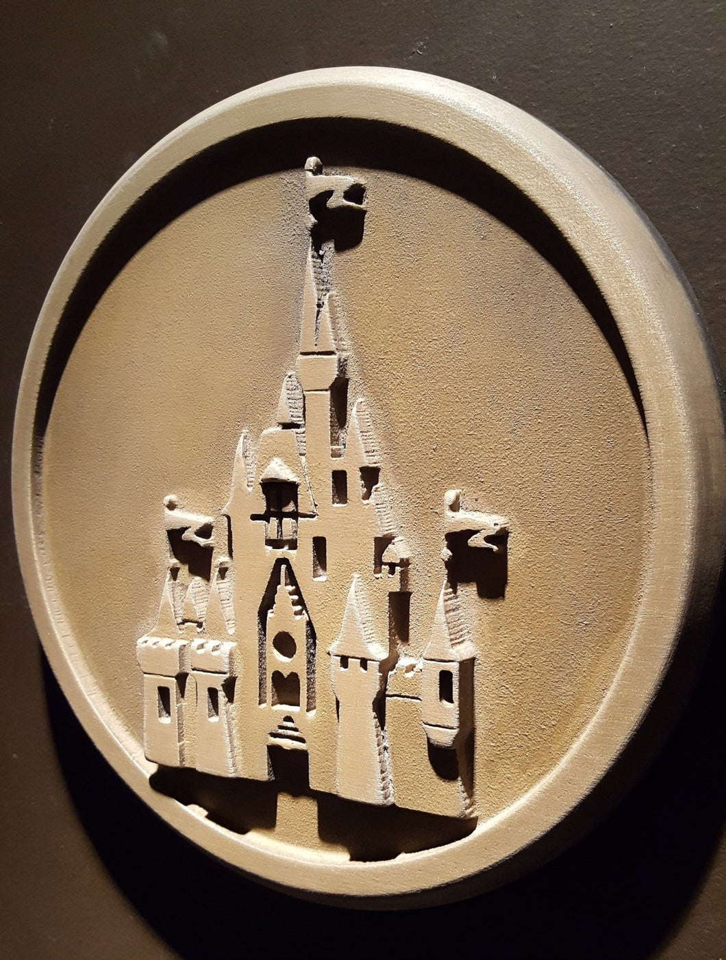 Disney World Magic Kingdom Gateway plaque replica unaged finish