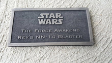 star wars the force awakens Rey's nn-14 Blaster name plate