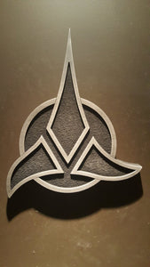 Star Trek Klingon Empire logo plaque