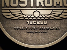 Nostromo Weyland-Yutani corporation Alien Logo plaque
