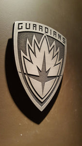 Marvels Guardians of the galaxy logo plaque