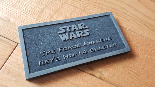 star wars nn-14 rey's Blaster name plate the force awakens