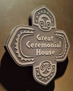 Disney polynesian resort Great Ceremonial House Tiki replica sign bronze finish