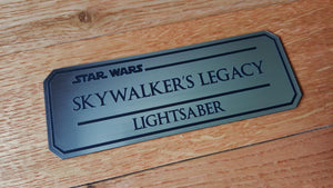 star wars Lightsaber name plate