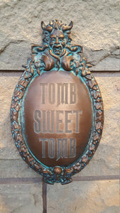 Disney Prop Haunted Mansion Tomb Sweet Tomb Plaque