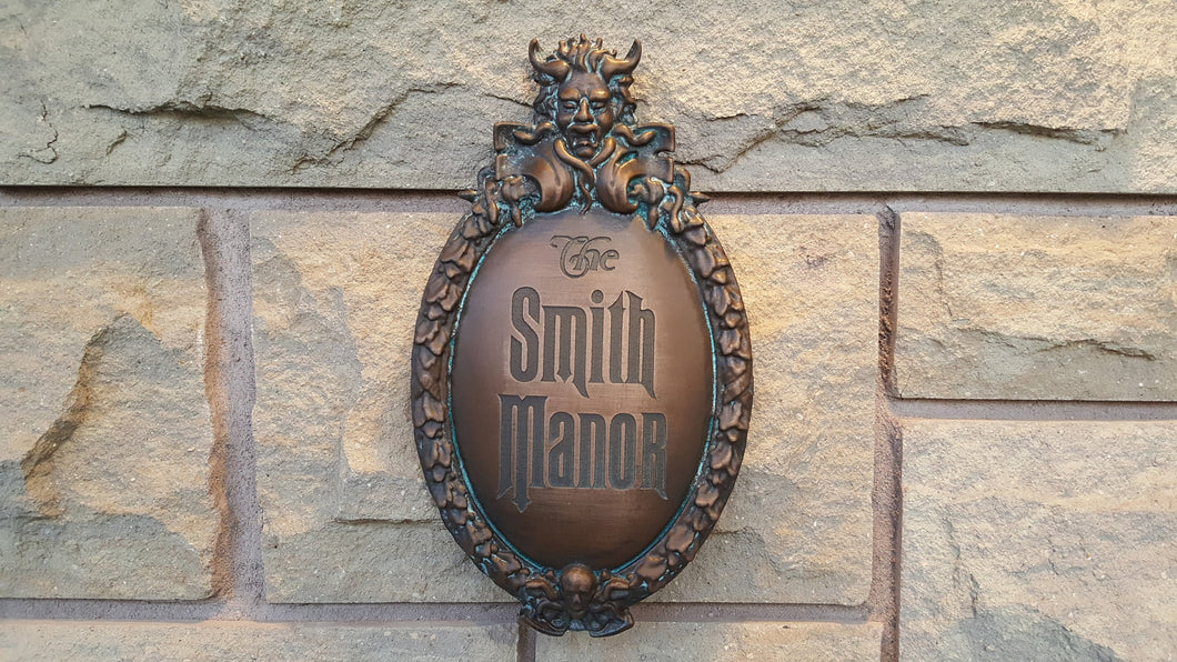 Customizeable Disney Prop Haunted Mansion Attraction Plaque