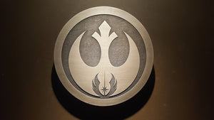 star wars rebel / jedi plaque sign