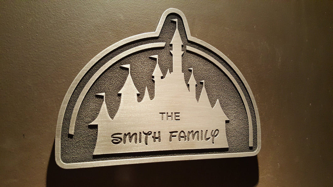 customizeable Disney inspired castle plaque