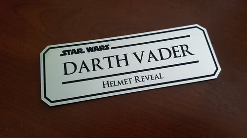 Darth Vader helmet reveal data plate