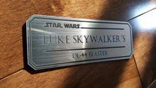 Luke Skywalkers Dl-44 blaster data plate