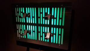 Star Wars double Lightsaber wallmount Display stand with LED lights