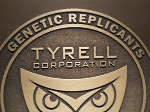 Blade Runner Tyrell Corporation Logo plaque