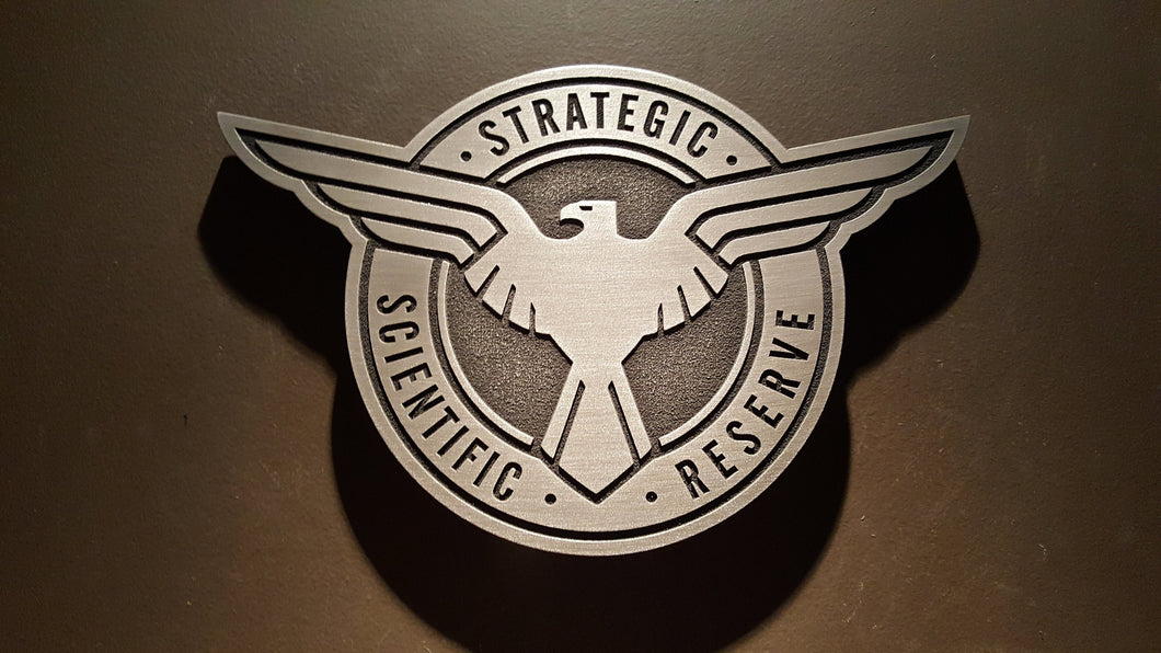 Marvels Agents of SHIELD and agent carter inspired plaque SSR Strategic Scientific Reserve
